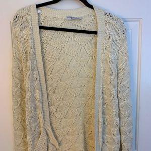 Cream and Gold Cardigan Sweater